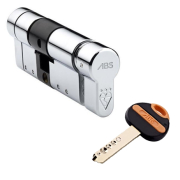 ABS Euro Profile Key & Thumbturn Cylinder (external key entry/internal thumbturn)