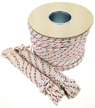 Red Dash Cotton Sash Cord