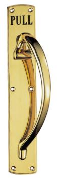 Ornate Pull Handle On Plate John Pickard Hardware Ltd