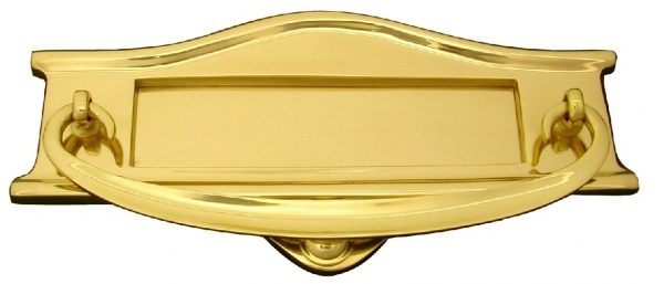 Shaped Letterplate with Knocker