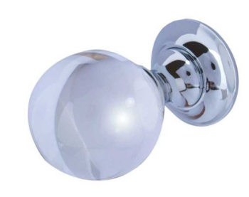 Clear Crystal Mortice Knob