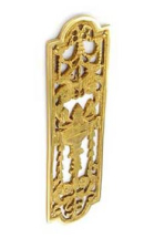 POL.BRASS FANCY FINGER PLATE