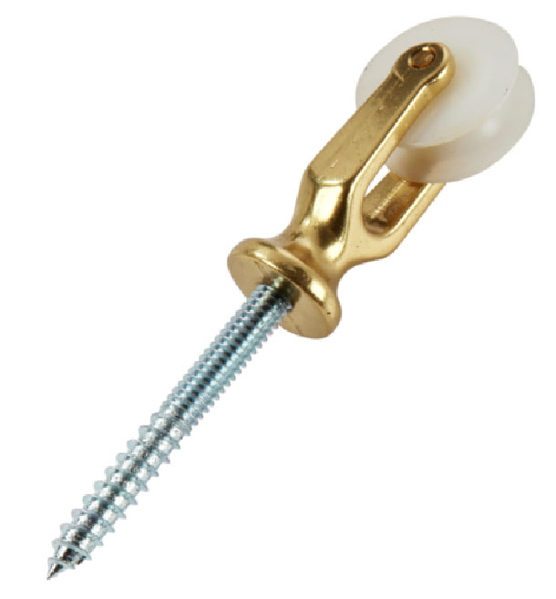 Polished Brass Screw Pulley