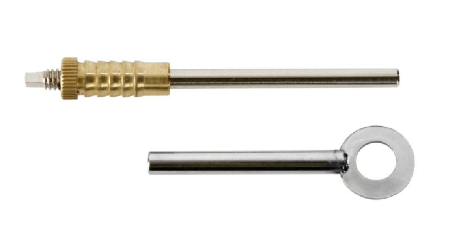 100mm BRASS Mort SECURITY DUAL SCREW