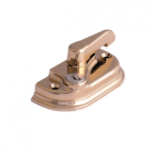 BRASS Pltd RH KEY LOCKING CAMLOCK SASH FASTENER