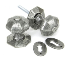 OCTAGONAL MORT. KNOBS PEWTER